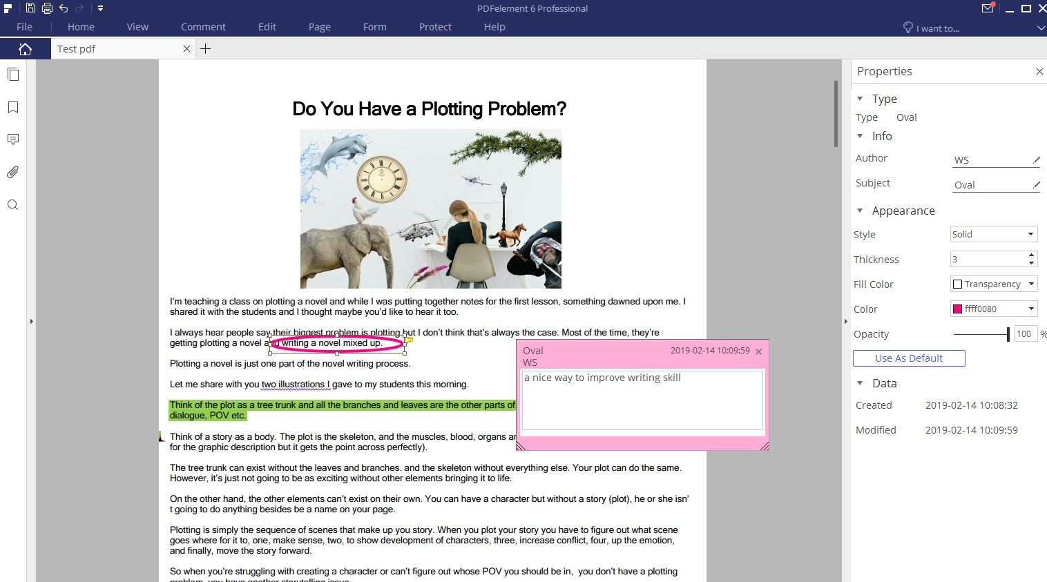 PDFelement editing tip