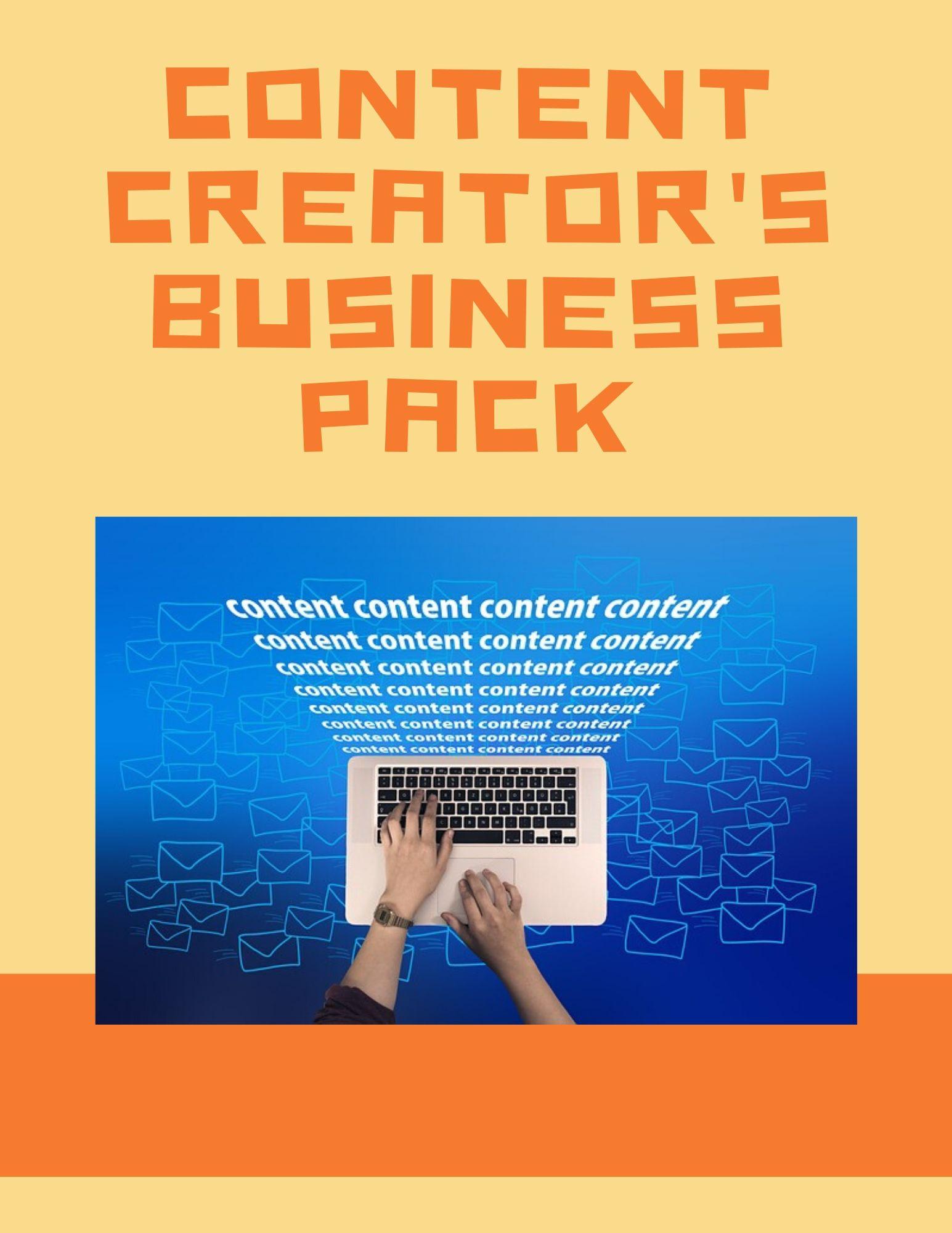 Content Creators Business Pack Photo